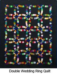 Amish Quilts Using up the scrap materials and possibly finishing the quilt with a quilting bee.