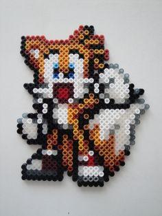 Tails from Sonic Hama Sprite by ~rinoaff10 on deviantART perler bead design