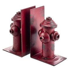 Rustic home or office décor with a twist, our iron bookends are sturdy yet classic–just like your man. These metal bookends will make a perfect gift for your firefighter Buy:...