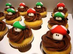 Super Mario Brothers 3D Mushroom Cupcake by SugarShackCupcakes, $30.00