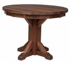 """40"""" Alexandria Round Table in Provincial Walnut from Erik Organic"""