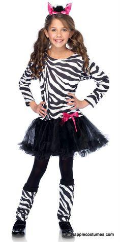 Girls' Little Zebra Costume - Candy Apple Costumes - Girls' Costumes