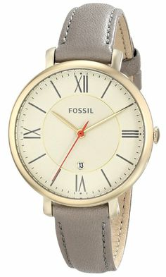 "Fossil Women's ES3486 ""Jacqueline"" Stainless Steel Watch with Leather Band"