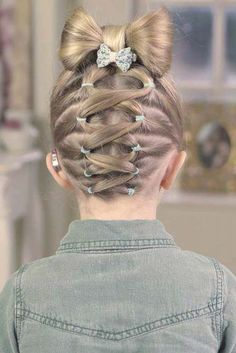 Easy Little Girl Hairstyles, Quick Hairstyles For School, Cute Girls Hairstyles, Creative Hairstyles, Braided Hairstyles, Gorgeous Hairstyles, Wedding Hairstyles, Trendy Hairstyles, Hairstyle Short