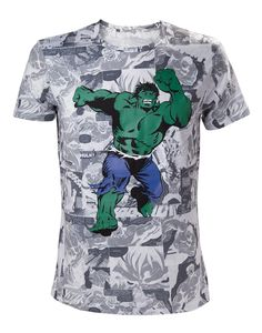 c8f3c6b6 Awesome Official Marvel Comics The Incredible Hulk Comic All Over Print  T-Shirt