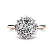 Winter wonderland snowflake engagement ring.