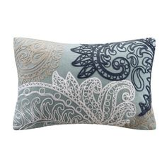 Ink+Ivy Kiran Embroidered Oblong Cotton Throw Pillow - 17160713 - Overstock - Great Deals on Ink and Ivy Throw Pillows - Mobile