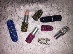 M.A.C Luxury lipstick & limited editions, Covered with swarovski crystals choose your shade and crystal colour! So sparkly and perfect for any MAC fan. #mac #mua #limitedEdition From $25 www.crystalsbynicole.com Insta@nicoledunnlv