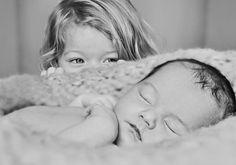 Una foto de hermanos preciosa.