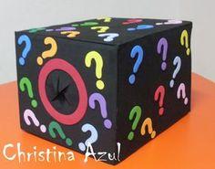Christina Azul: Caixa surpresa em EVA