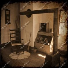 TTV Photo 19th Century Colonial Home Cabin Artifacts Wood Stove Antiques Genesee Country Museum Sepia Original Fine Art Photography Print - pinned by pin4etsy.com
