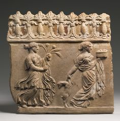 A TERRACOTTA PLAQUE, EARLY ROMAN IMPERIAL, CIRCA LATE 1ST CENTURY B.C./1ST HALF OF THE 1ST CENTURY A.D.