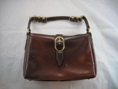 Classic Brown Leather Vintage Purse Tano Madrid Spain Buckle