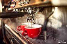 Coffee Machine Preparing Fresh Coffee And Pouring Into Red Cups At Restaurant, Bar Or Pub. Stock Photo - Image of kafe, capucinno: 60689194 Coffee Machine, Espresso Machine, Coffee Maker, Kfc, Mcdonalds, Baguette Relleno, Best Spanish Food, Espresso Bar, Fresh Coffee