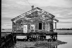 Abandoned Marsh House Charleston   8 x 12 inch by keithdotson, $48.00