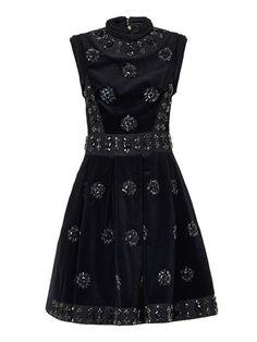 Justine crystal-embellished velvet dress | Erdem | MATCHESFASH...