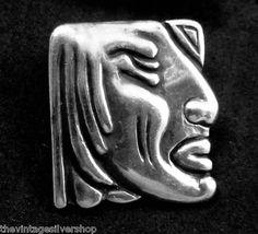 RARE Los Castillo Taxco Mexico Sterling Silver Indian Buttons Set of 6 16423   eBay