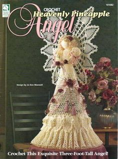 ANGELES de ESPERANCE - - Álbuns da web do Picasa.This angel is an amazing 3 feet tall,and there is a written pattern for crocheting it! Angel Crochet Pattern Free, Crochet Thread Patterns, Crochet Angels, Free Crochet, Irish Crochet, Crochet Ideas, Crochet Christmas Ornaments, Angel Ornaments, Christmas Angels