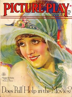 Madge Bellamy - Picture Play - August 1928