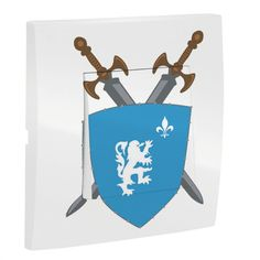 Complétez la décoration de son château-fort grâce à cet interrupteur décoré blason de chevalier ! Détail inédit dans la pièce, il vous permettra d'harmoniser sa déco et de personnaliser son éclairage. Il est également facile à installer et conforme aux normes CE et NF.  Dimensions de l'interrupteur : 8 x 8 cm
