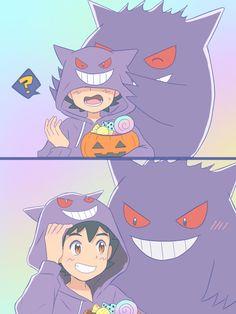 Ghost Pokemon, Ash Pokemon, Pokemon Comics, Pokemon Stuff, Cool Pokemon, Anime Comics, Pikachu, Cute Pokemon Pictures, Cute Pictures