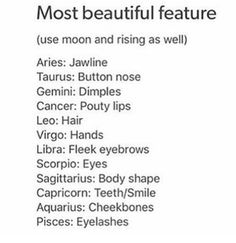 I wish I had dimples (gemini in moon). People told me I have a nice body shape (sagittarius rising).