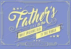 father's day greeting template by lyeyee on @creativemarket