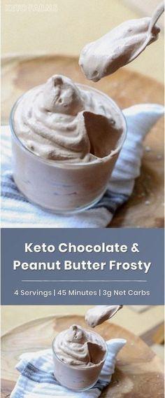 Keto Peanut Butter & Chocolate Frosty