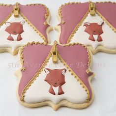 How Decorate Woodland Fox Inside a Royal Icing Zipper Cookie