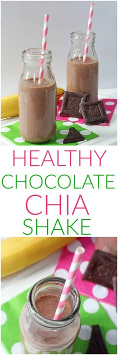 A healthy chocolate shake for kids packed with energy boosting chia seeds!