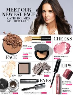 Katie Holmes wearing Bobbi Brown makeup- beautiful colours for every day Makeup Dupes, Beauty Makeup, Eye Makeup, Hair Beauty, Drugstore Beauty, Beauty Secrets, Beauty Hacks, Beauty Products, Beauty Tips