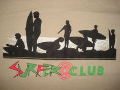 Vintage 1980s Surfer Club T Shirt Butter Soft Surf California Hawaii Tourist M | eBay
