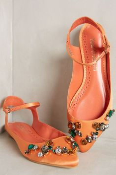 Sarah Chofakian Jeweled Flats - anthropologie.com