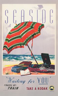 Seaside by James Northfield - http://www.australianvintageposters.com.au/shop/seaside-james-northfield/