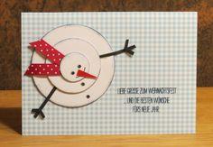 Weihnachtskarte geschickt an Eva