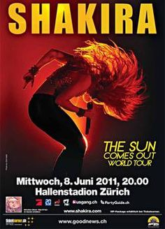 """Shakira """"The Sun Comes Out World Tour"""" at Zurich Hallenstadion  June 8, 2011"""
