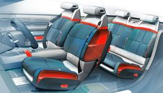 Citroen Reveals Geneva-Bound C-Aircross Concept Cheap Infant Car Seats, Toddler Car Seat, Baby Car Seats, Citroen Concept, Citroen C5, Car Interior Sketch, Car Interior Design, Interior Design Renderings, Interior Rendering