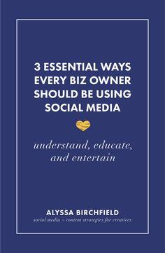 3 Essential Ways Every Biz Owner Should Be Using Social Media