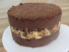 Bolo de Chocolate com Creme de Nozes   confeitariacreative