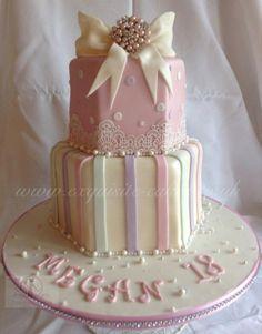 Vintage 18th Birthday Cake
