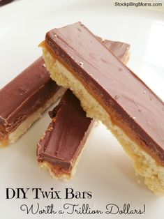 The best way to describe Trillion Dollar Bars is the taste of Twix bars, plus homemade magic, plus heaven all tied into one.