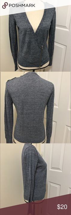 J. Crew cardigan Navy blue ballet style cardigan. Double zipper closure with adjustable button detail in the inside to make it fit your liking. Long sleeve but light weight . J. Crew Sweaters Cardigans