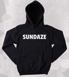 Positive Hoodie Sundaze Hippie Bohemian Good Vibes Sweatshirt Tumblr Clothing