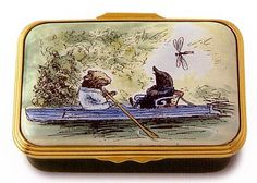 The Wind in the Willows. Halcyon Days Enamel Box, made in England. Limited Edition of 250.