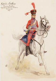 Tromba dell'artiglieria a cavallo della guardia imperiale