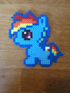 Rainbow dash. My little pony. Bead pattern.
