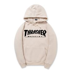 2016 New Fleece Autumn Winter Trasher Men's Hoodies Streetwear Skateboard Hip hop Hoody Thrasher Sweatshirt Men Women Sweat XXL *** Offer can be found by clicking the image
