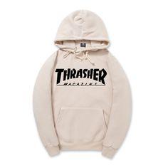 2016 Nova Velo Outono Inverno Hoodies dos homens Trasher Streetwear Thrasher Skate Hip hop Hoody Camisola Das Mulheres Dos Homens Suor XXL
