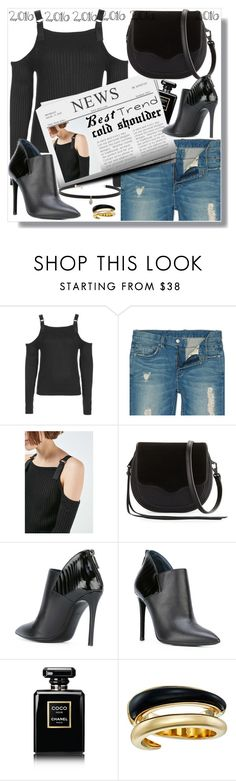 """""""best trend 2016 cold shoulder"""" by teto000 ❤ liked on Polyvore featuring Topshop, Rebecca Minkoff, Pollini, Chanel, Michael Kors, Carbon & Hyde, coldshoulder and besttrend2016"""