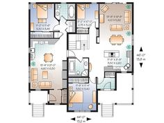 1000 images about duplex on pinterest duplex plans for Extended family house plans